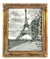 Eiffel Tower Oil Painting by Russian Artist Dmitriy Proshkin 9x11 Paris France