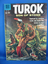 Turok, Son of Stone #22 (Dec 1960-Feb 1961, Dell) VF Dinosaur Cover