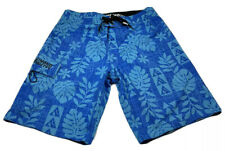 hinano tahiti Boardshorts Blue Floral Size 30 Inseam 10 Inches.
