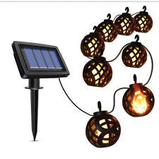 Solar String Lmap Led Flickering Flame Hanging Solar Lantern Lights Outdoor