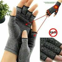 Magnetic Arthritis Gloves Soft Compression Hand Therapy Support Sore Fingers~