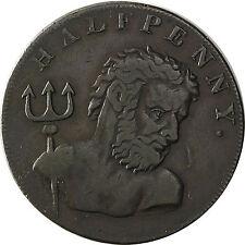 La Grande-Bretagne Angleterre 1/2 penny token 1794 pêche à la baleine, Neptune M. trident cuivre