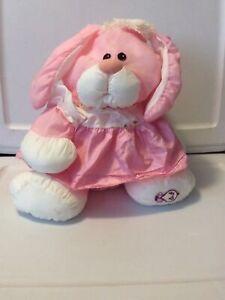 Vintage Fisher Price Puffalump BUNNY RABBIT White Pink 1986 Nylon Plush Soft Toy