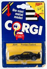 Vintage Corgi Junior Pontiac Firebird JB46 Great Britain 1984 New On Card