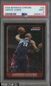 2006-07 Bowman Chrome #22 LeBron James Cleveland Cavaliers PSA 9 MINT