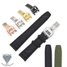 Canvas Straps For Zenith Laco IWC Pilot Watch with Deployment Clasp Buckle +Tool