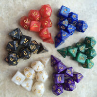 42pcs Multi-Sided Gem Dice Die for RPG Dungeons & Dragons DND D&D Games