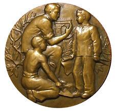 Art Deco teaching of construction & public work 1963 medal by Raymond PELL / M78