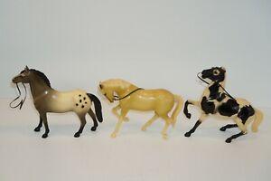 Vintage Hartland Plastic Horse Lot Walking Gray Appaloosa Rearing Mustang