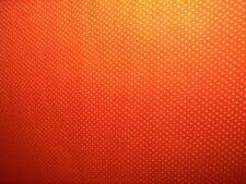 ORANGE WITH WHITE POLKA DOTS Cotton Fabric  Cranston VIP 1 Yard