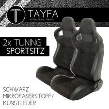 2x Autosportsitz Sportsitz schwarz Kunstleder Alcantara  Schalensitz Sportseats