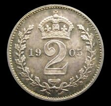 More details for edward vii 1905 silver maundy twopence - unc