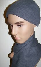 Gray  Winter Knit Hat And Scarf Set