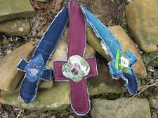 ReFuNk Patchy Crystal Sword of Bravery Handmade Custom Made to Order denim toy