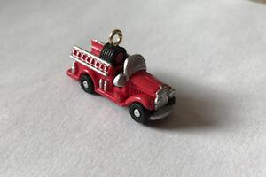 1993 North Pole Fire Truck ~ Hallmark Miniature Keepsake Ornament