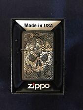 ZIPPO Lighter / Feuerzeug, Modell: Skulls in Skull,  Made in USA
