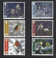 ISLE OF MAN 2011 CHRISTMAS BIRDS SET OF 6 UNMOUNTED MINT, MNH
