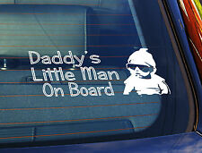 Static Cling Window Car Sign/Decal Daddys's Little Man Baby Sunnys Sunglasses
