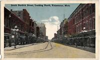 c1910 KALAMAZOO Michigan Mich Postcard South BURDICK STREET Looking North