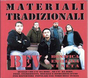 BONIFICA EMILIANA VENETA B.E.V. - MATERIALI TRADIZIONALI - CD NUOVO SIGILLATO