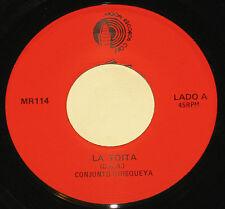 """Conjunto Quisqueya 7"""" 45 HEAR LATIN JAZZ SALSA La Toita MOON Yo Quiero Que Tu Me"""