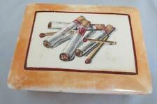 Vintage Porcelain Cigarette Box. Made in Czechoslovakia