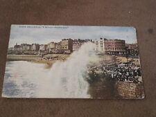 Sussex postcard -A Windy Morning -  Rough sea  Brighton