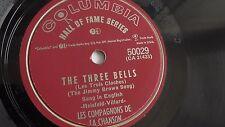 Les Compagnons De La Chanson - 78rpm single 10-inch  Columbia #50029 Three Bells