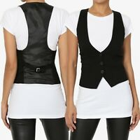 TheMogan Women S~3X Dressy Casual Tuxedo Classic Vest Fully Lined Suit Waistcoat