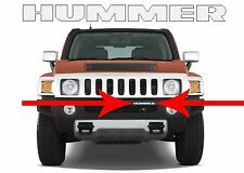 Mirror Chrome ABS Plastic Front Bumper Inserts For 2006-2010 Hummer H3 New USA