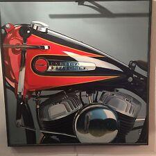 Pinturas V. Günther Herrmann (1959) Harley Davidson Wla 1998. 90 x 90 cm