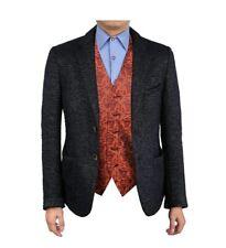 Epoint Men's Microfiber Suit Vest Paisley Design