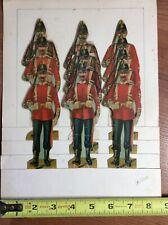 British Soldiers Antique Die Cut Paper Doll Sheet Hussars Raphael Tuck