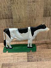 Cast Iron Figural Cow Boot Scraper Doorstop art door stopper black white
