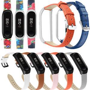 Hot Bunte Blumen Leder Smart Uhrenarmband für xiaomi mi Band 4 3 Armband Zubehör