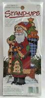 """1996 VTG NIP Counted Cross Stitch Embroidery Kit Ho Ho Ho Santa Stand-Up 7"""" 7353"""