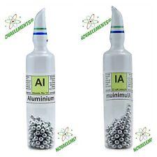 Aluminium metal element 13 sample Al 10g 99,99% argon sealed ampoule and label