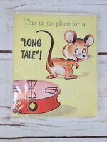 Vintage 60's Sangamon Social Note Cards Stationary Mouse No Long Tale Humor MCM