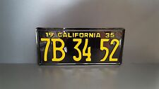 California 1935 License Number Plate Custom Embossed PRESSED Kennzeichen Schild