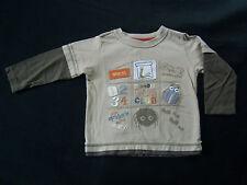 Mothercare ? Jungenshirt langarm Shirt Sweatshirt Tiere Animals ? 12-18 M. Gr.86