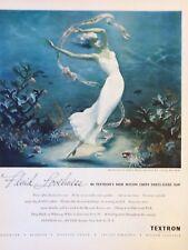 Original 1949 Print Ad TEXTRON Fluid Loveliness Lingerie Sternberg Artwork