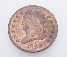 1828 Classic Head Half Cent US Coin - Gem BU Brilliant Uncirculated