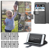PERSONALISED PHOTO PHONE CASE, LEATHER FLIP PHONE CASE, COVER FOR APPLE, SAMSUNG