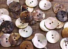 """Japan Lot 500 24L 5/8"""" 15mm WHOLESALE Real Pearl Shell Button Crafts Project"""