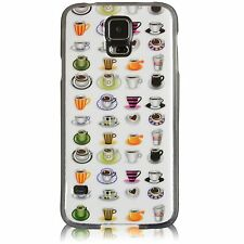 Cute and Fun Coffee Cups Mugs TPU Gel Fitted Case Cover For Samsung Galaxy S5
