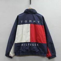 Vintage Tommy Hilfiger Full Zip Reversible Light Jacket Size XL 90s Big Flag