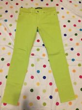 Women's Joe's Jeans Lime Green Colored Skinny Visionnaire Jeans Size 28