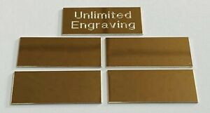 Engraving BRASS TROPHY  PLATES x 5 CUSTOM ENGRAVING + FREE P&P