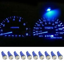 10x T5 17 37 73 74 79 Wedge Instrument Dashboard 3 SMD LED Light Bulb Lamp Blue