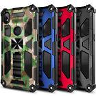 Case For Alcatel Lumos / Axel, Full Body Armor Kickstand Cover + Tempered Glass